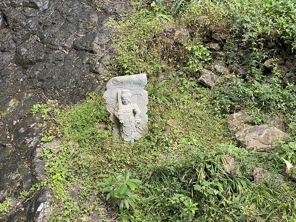 不動の滝 石像