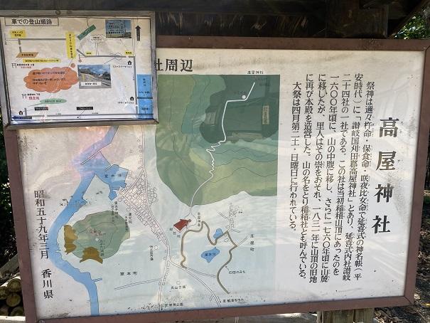 高屋神社 案内図