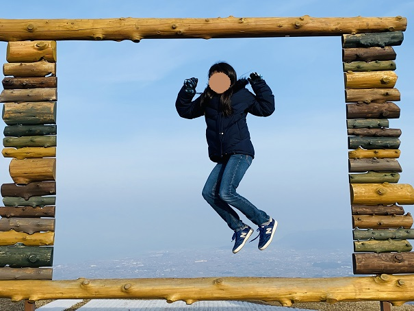 天空でジャンプ