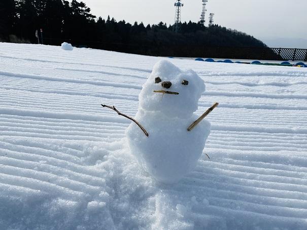 雲辺寺山頂公園雪だるま