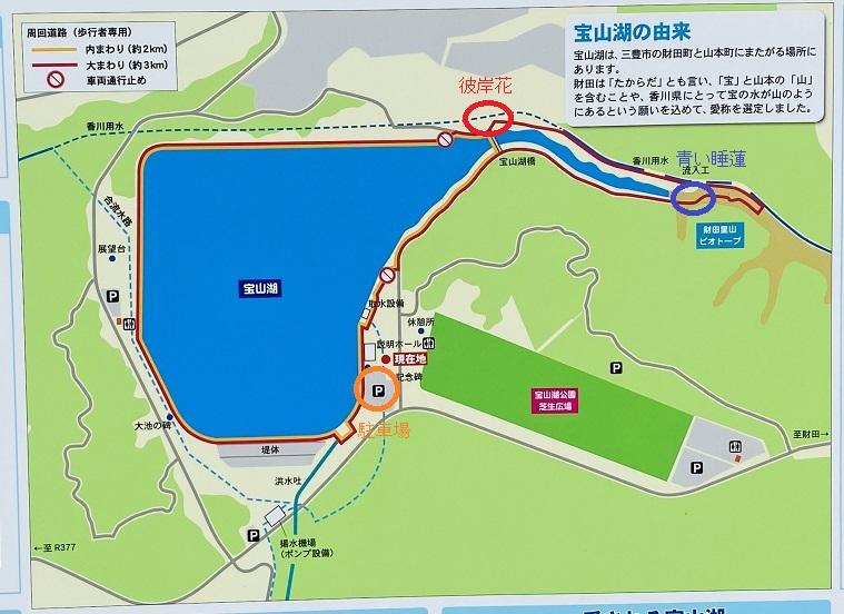 宝山湖案内図