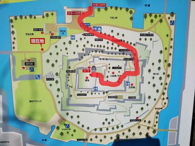 丸亀城キャッスルロード 案内図