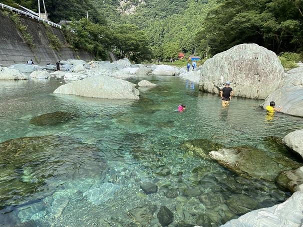 加茂川 川遊び