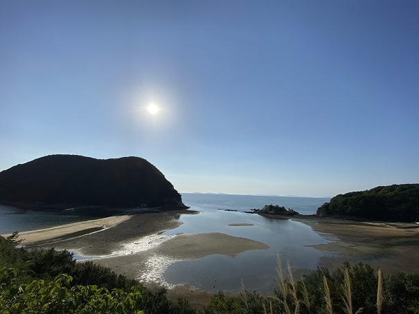 鴨之越と丸山島の全体写真