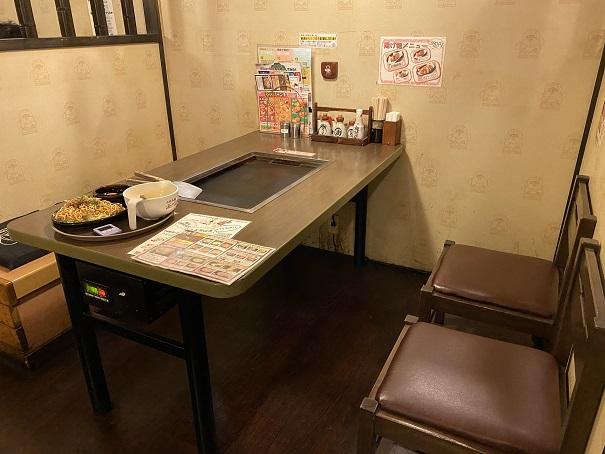 道とん堀 丸亀パブリックプラザ店座席