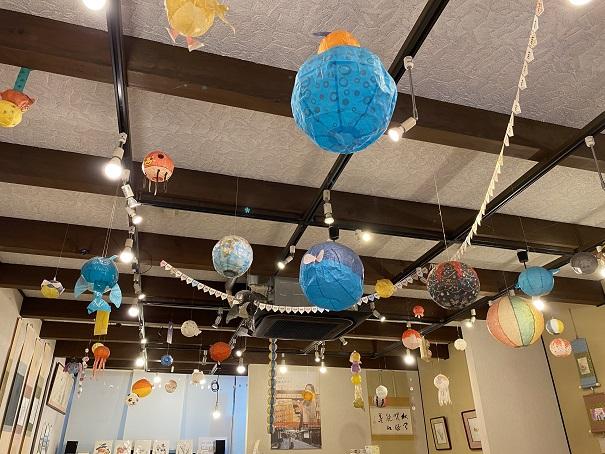 如竹堂 天井の紙風船