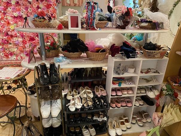 いがらしゆみこ美術館 お姫様体験 子供用靴