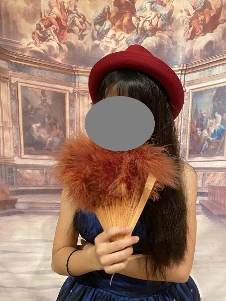 いがらしゆみこ美術館 お姫様体験 帽子と扇子