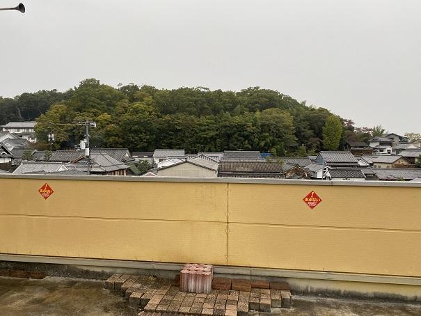 いがらしゆみこ美術館 屋上テラス眺め