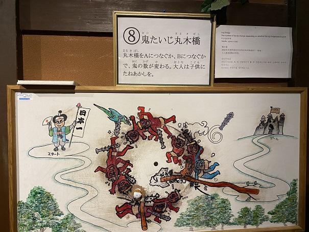 桃太郎からくり博物館 鬼退治丸木橋2