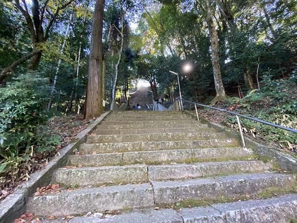 岩部八幡神社 本殿まで階段1