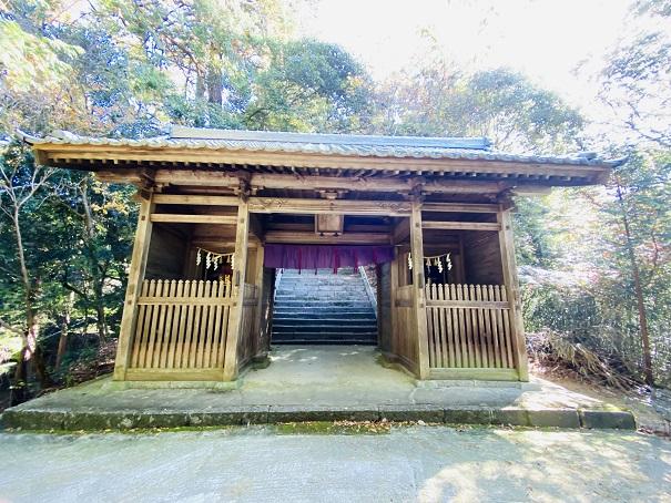 岩部八幡神社 随神門