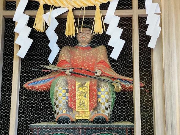 岩部八幡神社 随神門 右大臣