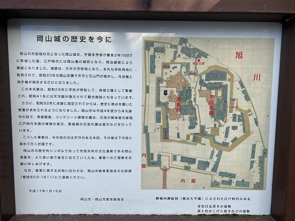 岡山城 昔の図
