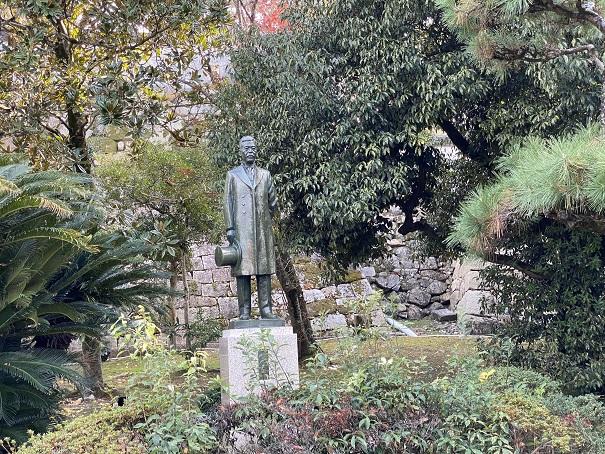 岡山城 笠井信一像