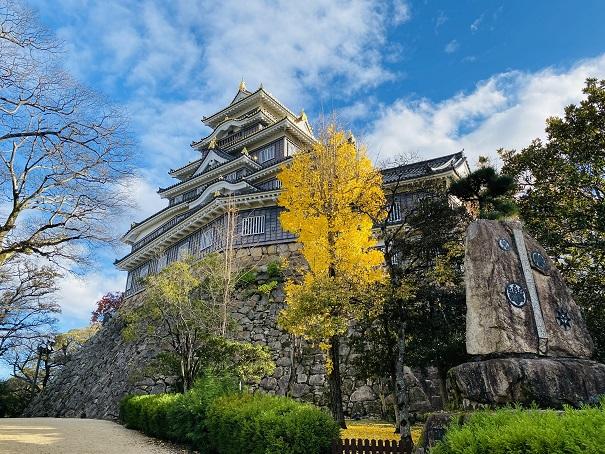 岡山城 銀杏