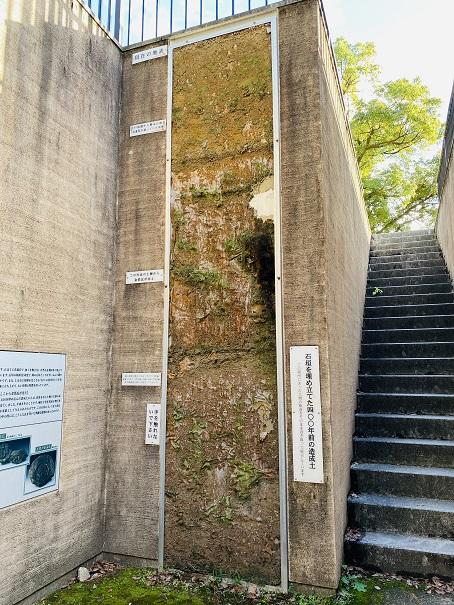 岡山城 400年前の造成土