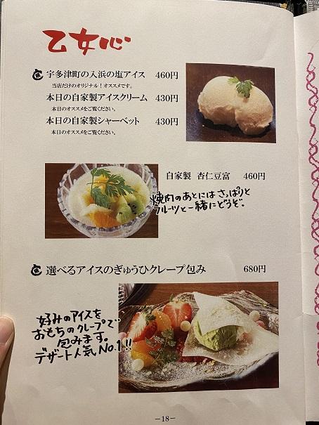焼肉ひらいディナーメニュー9