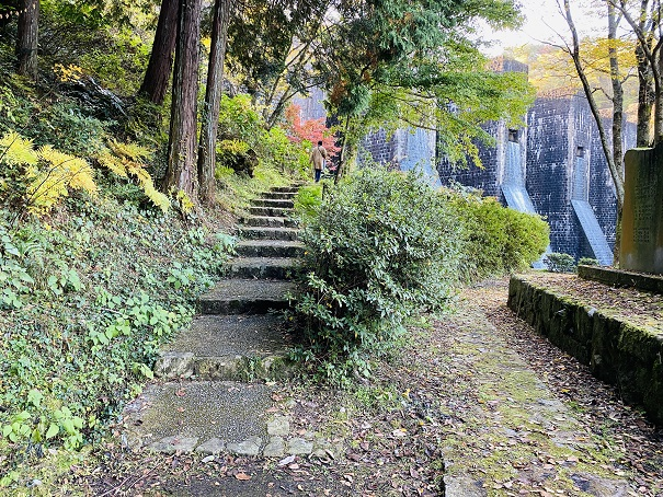 豊稔池 上へあがる階段