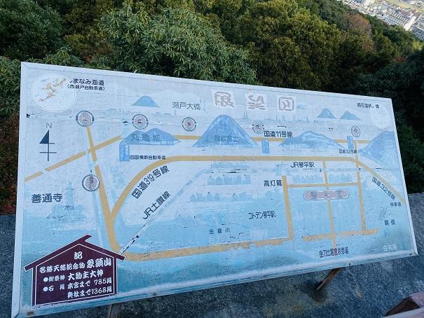 金刀比羅宮から飯野山や丸亀城が