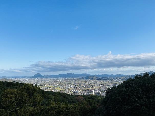 金刀比羅宮から琴平町の景色