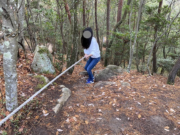 国立吉備青少年自然の家アスレチック ロープ場