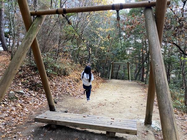 国立吉備青少年自然の家アスレチック ロープウェイ