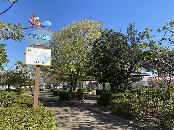 宇多津3号公園テニスコート 入口