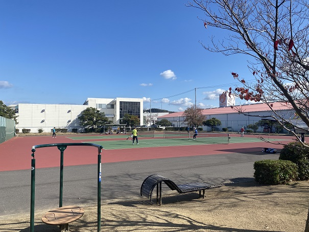 宇多津3号公園テニスコート ちょいトレ