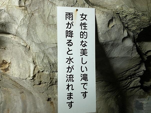 井倉洞 ありさの滝説明
