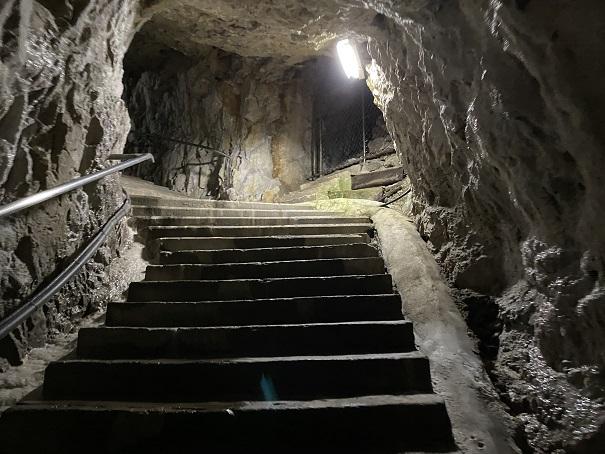 井倉洞 階段