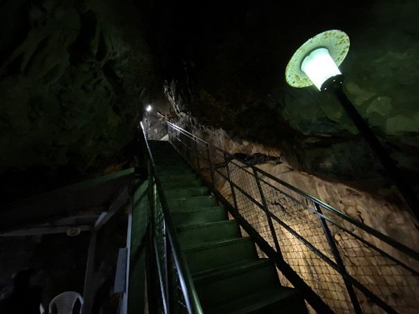 井倉洞 さらに階段