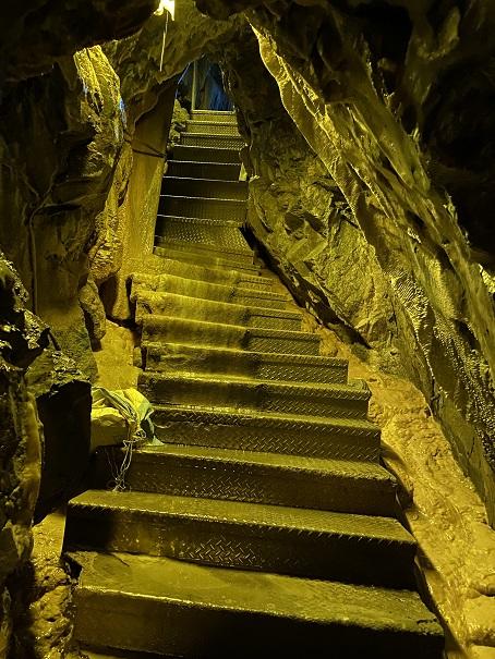 井倉洞 鍾乳石化する階段