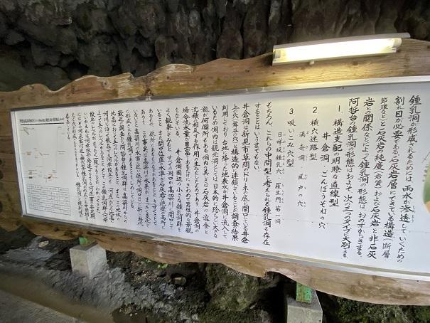井倉洞 鍾乳洞の説明2