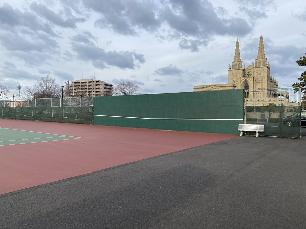 宇多津テニス公園 壁打ち