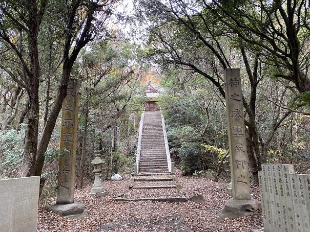 馬城八幡神社 階段