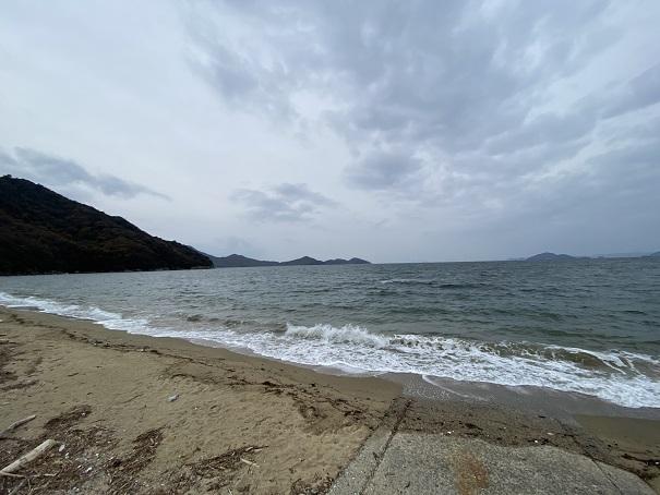 粟島 西浜海水浴場