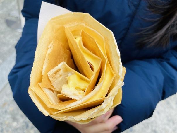 くらしき桃子 バナナチョコカスタードクリームクレープ