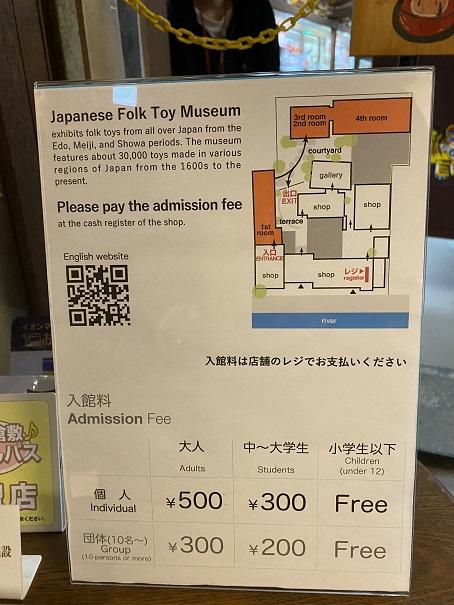 日本郷土玩具館 料金