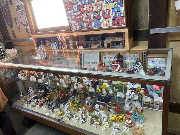 日本郷土玩具館 第3室馬などの玩具
