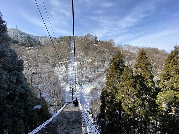 石鎚スキー場 第一リフト上まで