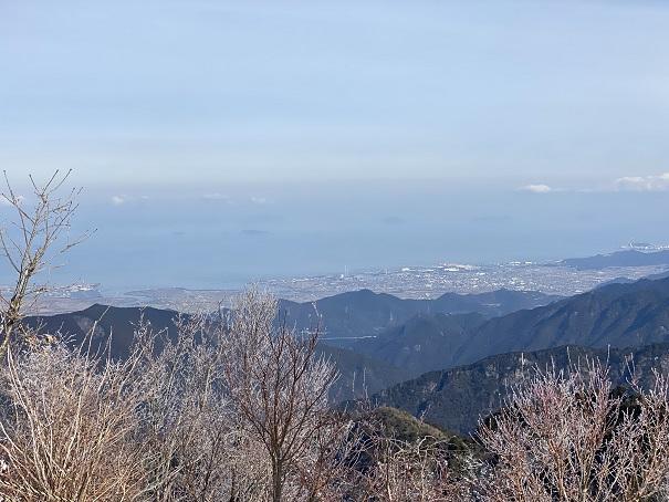 石鎚スキー場 第1リフト頂上からの景色