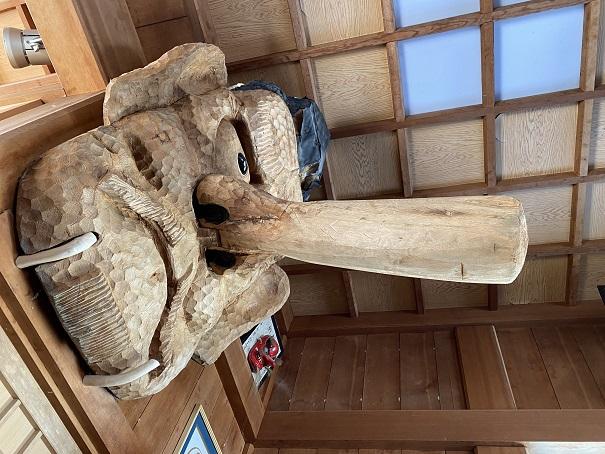 石鎚神社 見返り遥拝殿天狗