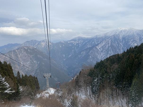 石鎚登山ロープウェイ風景