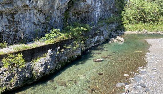 鏡川の川遊び ターザンロープや飛び込み シュノーケリング