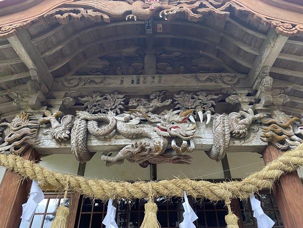 八坂神社 龍の彫刻