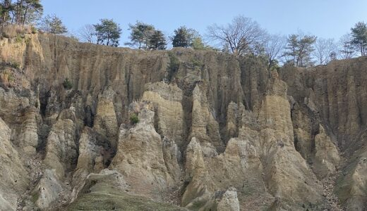 阿波の土柱 世界三大奇勝と国の天然記念物を観光 徳島県