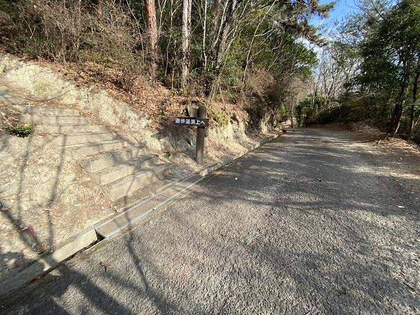 土柱 舗装された道へ