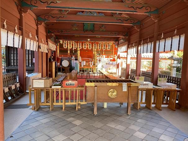 伊佐爾波神社 社殿中