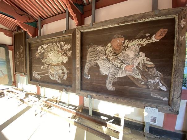 伊佐爾波神社 壁絵